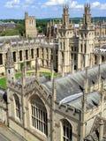 Toute l'Université d'Oxford d'université d'âmes Images libres de droits