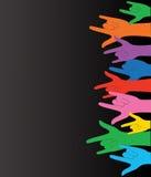 Toute la couleur remet vers le haut du signe d'amour et du vecteur de fond Photographie stock libre de droits