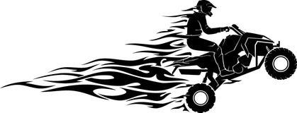Toute la flamme de vitesse de véhicule de terrain illustration libre de droits