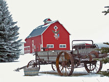 Toute la grange américaine Image libre de droits