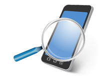 Toute la recherche de dispositif de smartphone Photos stock