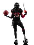 Toute la silhouette de joueur de football de sports d'Américains Photo stock