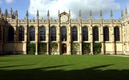 toutes les âmes d'Oxford d'université Photos stock
