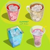 Toutes les boissons non alcoolisées illustration stock