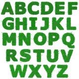 Toutes les lettres d'alphabet d'herbe verte Photos stock