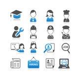 Toutes sortes d'icône du travail Photographie stock libre de droits