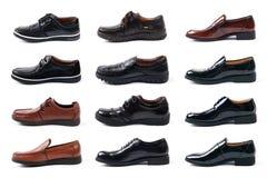 Toutes sortes de chaussures en cuir des hommes Image stock