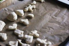 Toutes sortes de formes de la pâte Images stock