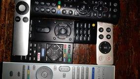 Toutes sortes de rétros télécommandes images stock