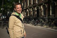 Toutist in Amsterdam Royalty Free Stock Photos