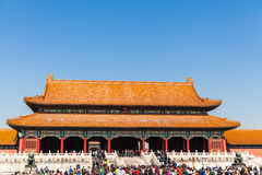 Toutists in the forbidden city Royalty Free Stock Photo