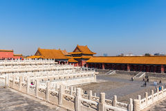 Toutists in the forbidden city. Beijing, China - October 14, 2014 - A lot of tourists visiting the forbidden city, Beijing, China Stock Image