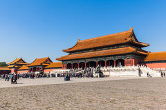 Toutists in the forbidden city Royalty Free Stock Photography