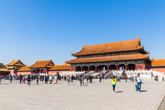 Toutists in the forbidden city Royalty Free Stock Images