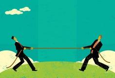 Touwtrekwedstrijd 2 stock illustratie