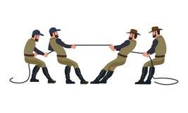 Touwtrekwedstrijdvector stock illustratie