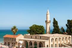 Touzlamoskee (11de Eeuw) Larnaca cyprus Stock Afbeeldingen