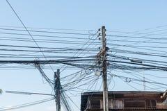 Tova av kablar och trådar Royaltyfri Foto