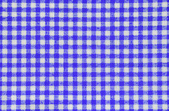 Tovaglia checkered blu immagine stock