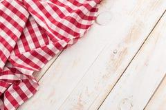 Tovaglia checkered rossa fotografie stock libere da diritti