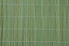 Tovaglia di bambù verde Immagini Stock