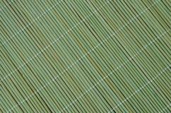 Tovaglia di bambù verde Immagini Stock Libere da Diritti