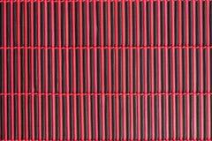 Tovaglia rossa di bambù immagini stock libere da diritti