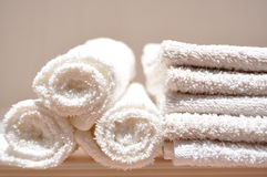 Tovaglioli bianchi Fotografie Stock