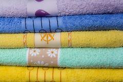 Tovaglioli colorati Fotografie Stock
