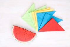 Tovaglioli colorati Fotografia Stock