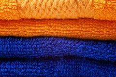Tovaglioli colorati del cotone Fotografie Stock Libere da Diritti