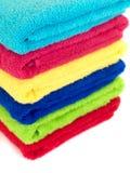 Tovaglioli colorati della stanza da bagno Fotografia Stock