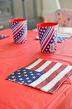 Tovaglioli della bandiera americana Immagine Stock