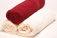 Tovaglioli di bagno Fotografie Stock