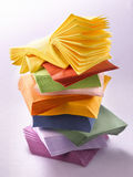 Tovaglioli di carta colorati Fotografia Stock Libera da Diritti