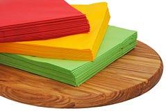 Tovaglioli di carta di colore Fotografie Stock Libere da Diritti