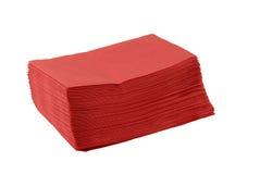 Tovaglioli di carta rossi Immagini Stock Libere da Diritti