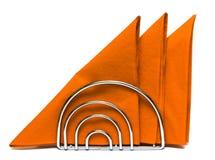 Tovaglioli di carta su bianco Fotografia Stock Libera da Diritti