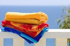 Tovaglioli di spiaggia Fotografie Stock