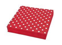 Tovaglioli rossi Fotografia Stock