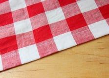 Tovagliolo bianco rosso Immagini Stock
