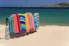 Tovagliolo di spiaggia Fotografia Stock Libera da Diritti