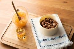 Tovagliolo matto e tradizionale dell'inceppamento arancio, del liquore, di progettazione Immagini Stock
