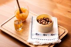 Tovagliolo matto e tradizionale dell'inceppamento arancio, del liquore, di progettazione Fotografia Stock Libera da Diritti