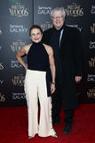 Tovah Feldshuh,  Andrew Levy. NEW YORK-DEC 8: Actress Tovah Feldshuh (L) and  Andrew Levy attend the Into The Woods premiere at the Ziegfeld Theatre on December Royalty Free Stock Photo