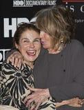 Tovah Feldshuh y Sheila Nevins fotografía de archivo libre de regalías