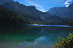 Tovel Lake on Alps Royalty Free Stock Image