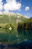 Tovel lake, Trentino, Italy Royalty Free Stock Image