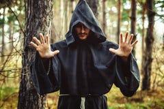 Tovenaar die vinger richten Stock Afbeelding