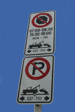 Tow away zone Stock Images